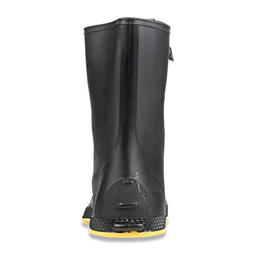 "Servus SuperFit 12"" PVC Dual-Compound Men's Overboots, Black & Yellow (11001-Bagged) - Image 2"