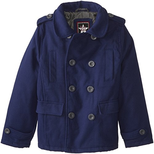 YMI Big Boys' Double Breasted Wool Pea Coat with Sleeve C...