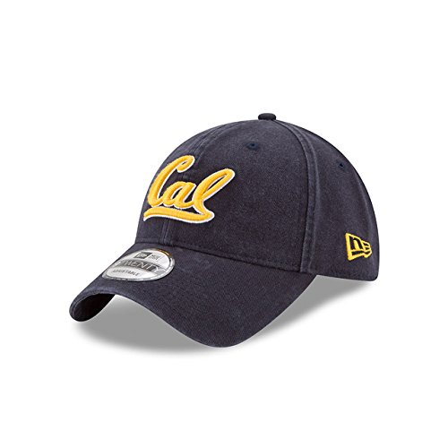 New Era Men's Cal Golden Bears Core Classic Navy One Size Fits (Bears One Fit Cap)