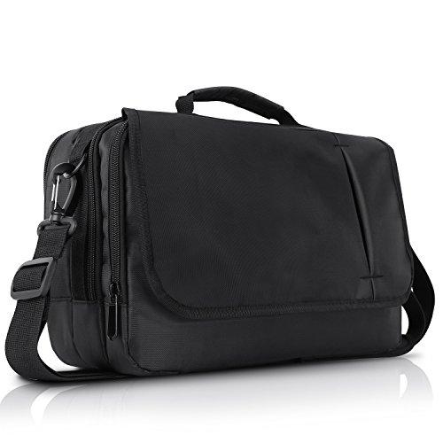 CUTRIP Business Messenger Bag Shoulder Bag Handbag for 10.1 inch Dual Screen Portable DVD Player and Tablet-Black (10.1 inch)