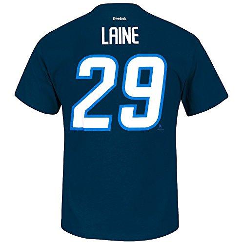 Patrik Laine Winnipeg Jets NHL Reebok Men Navy Blue Player Name & Number Jersey T-Shirt (2XL) (Navy Blue Player T-shirt)