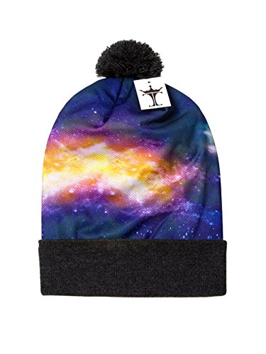 UPC 798711848256, TopHeadwear Sublimation Cuffed Beanie - Galaxy 100 - Long - Grey