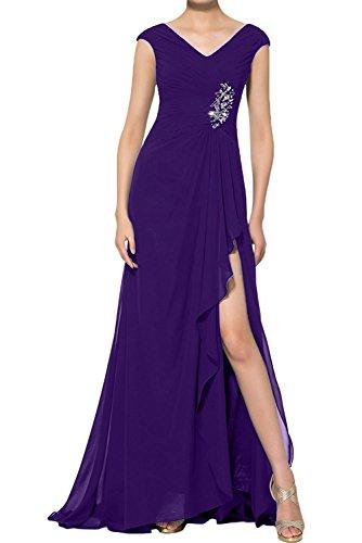 Chiffon Partykleider Lang La Blau Ballkleider Formalkleider Brautjungfernkleider Abendkleider Damen Braut Lila Etuikleider mia xqITFA