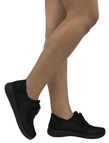 Die athletischen Schuhe der Sammlungs-Jill-Frauen beiläufige Art- und Weisebreathable Maschen-Turnschuhe Schwarzes Netz