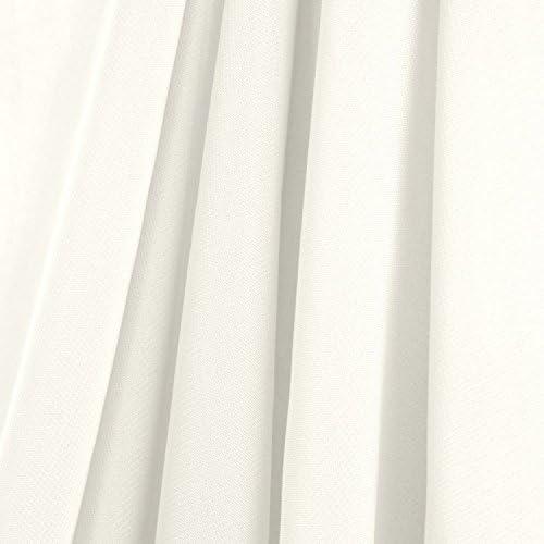 AK-Trading Chiffon Drapes Panels for Wedding Events Decor- Backdrop Draping Curtains 115 x 120 , Ivory