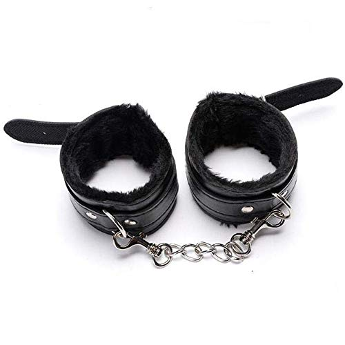 Double Enders Leather Plush Handcuffs SMBondage Games Married Couples  Flirting Essential Goods Womanizer Shop,Pink