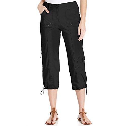 Black Cargo Capris (Style & Co. Womens Poplin Cargo Capri Pants Black 12)