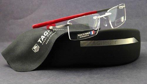 TAG HEUER 0301 Eyeglasses TagHeuer Spring 002 Racing Red Optical ...