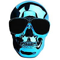 Smileto Skull Portable Wireless Bluetooth speakers with HD Sound and Bass(blue)