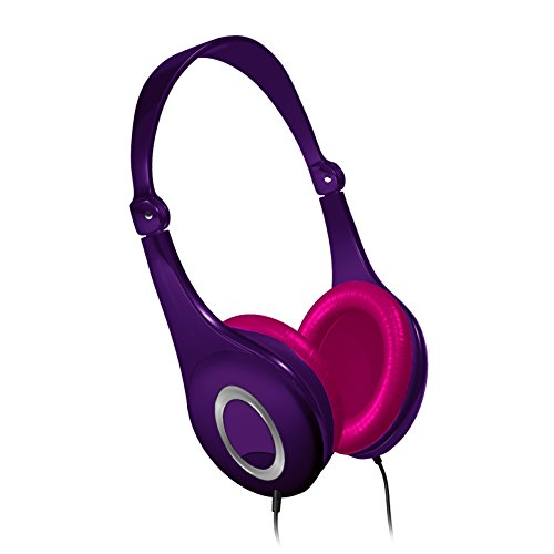 Maxell Safe Soundz Foldable Lightweight Adjustable Hearing Protection & Noise Canceling Headphones with 85 Decibels Maximum Sound Output - Purple Headphone (199721)