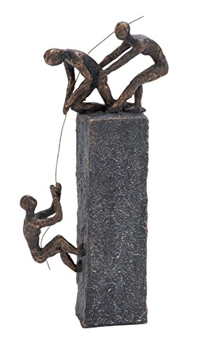 Bronze Sculptures Home Decor - Deco 79 Poly-Stone Sculpture, 7 by 17-Inch
