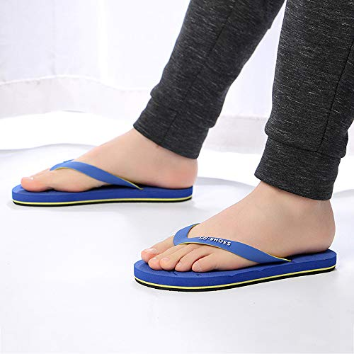 Summer Men Anti-Skidding Sandals Slipper Beach Shoes Blue by Sunsee (Image #1)
