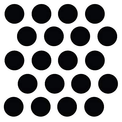 "(260) 1"" Black Polka Dot Decals - Removable Peel and Stick Circle Wall Decals for Nursery, Kids Room, Mirrors, and Doors: Home & Kitchen"