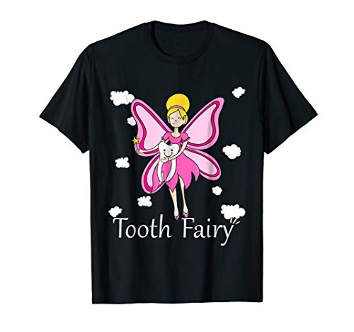 Tooth Fairy Halloween Costume T-shirt for Women and Girls ()
