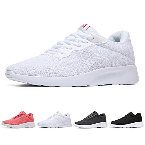 (MAIITRIP Womens Tennis Shoes for Gym Walking Jogging Running Workout Comfortable Spring Sport Fashion Athletic Sneakers All White Size 10)