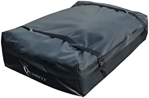 CarFit Cargo Carrier, Roof Cargo Bag, Stylish Car Roof Bag 15 Cubic Feet NO Rack Needed 2 Year Warranty
