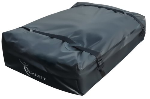 Cargo Carrier, CarFit Roof Cargo Bag , Stylish Car Roof Bag 15 Cubic Feet NO RACK NEEDED 2 Year Warranty