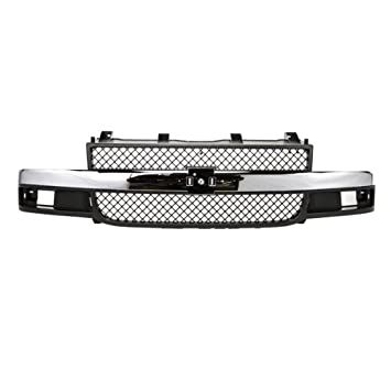 CarPartsDepot Grill Grille Chrome Black Assembly Front Gm1200535 25749583