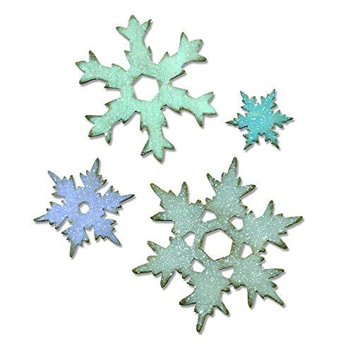 Cuts 25 Die Layered - Sizzix 660052 Bigz Die, Stacked Snowflakes by Tim Holtz