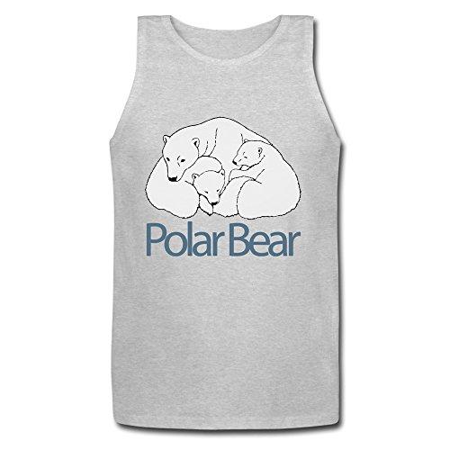 pinganshu-men-short-sleeve-polar-bear-tanks-tee-shirts