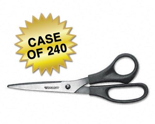 Westcott All Purpose Value Scissors, Black, 8'', Case of 120