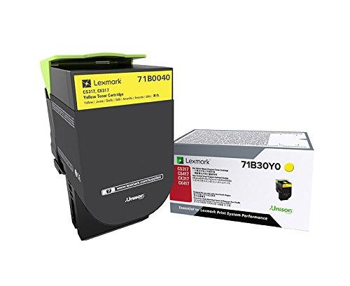 Lexmark Print Yellow - Lexmark 71B0040 CS317dn CS417dn CS517de CX317dn CX417de CX517de Yellow Cartridge Toner