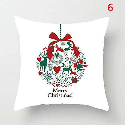 Pendant Drop Ornaments - Letters Square Linen Kerst Pillowcase Santa Elk Bell Pillow Cover Xmas Decor Christmas Decoration - Doorbells Wireless Doorbell Bell Self Wireless Home Call Ring D ()
