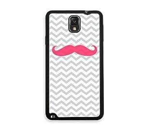 Shawnex Pink Mustache Samsung Galaxy Note 3 Case - Fits Samsung Galaxy Note 3 Note III
