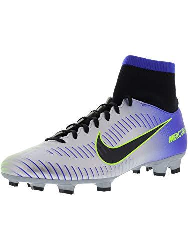 Nike Mercurial Victory Vi Racer Blue/Black - Chrome Volt Ankle-High Soccer Shoe 11.5M 10M ()
