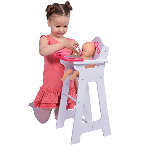 Wooden Doll High Chair Fits
