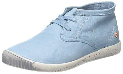 Softinos Donna Alte Indira Sneaker Turchese Blue pastel rwxSrqC1
