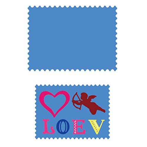Tuu New Flower DIY Cutting Dies Metal Stencils Embossing Crafts Embossing Folder for Scrapbooking Album Paper Card(Love❤) - Cuttlebug New Embossing Folder
