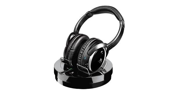 Acoustic Research - Auriculares estéreo inalámbricos negro: Amazon.es: Electrónica