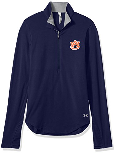 - Under Armour NCAA Auburn Tigers Women's Cotton Lightweight 1/4 Zip Tee, Large, Navy