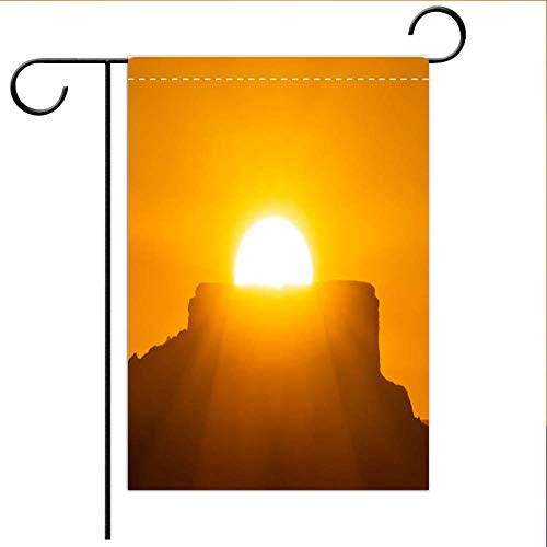 - BEICICI Garden Flag Double Sided Decorative Flags Sunrise in The far west Mountains Best for Home Outdoor Decor and Party Yard