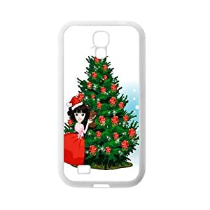 Custom Christmas Tree Back Cover Case for SamSung Galaxy S4 I9500 JNS4-091