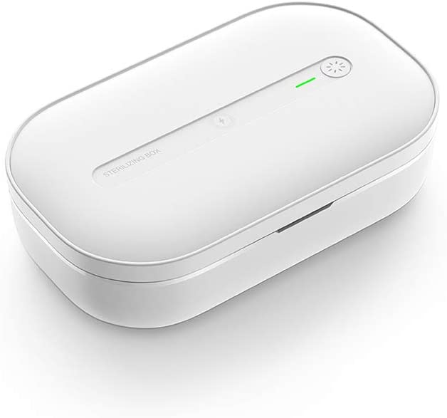 PWPAM UV Phone Sanitizer with Ozone Plus Integrated 10W Wireless Charger for Cellphone, Watch, Headphones, Jewelry and More