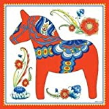 Essence of Europe Gifts E.H.G Wall Tile Design Swedish Red Dala Horse
