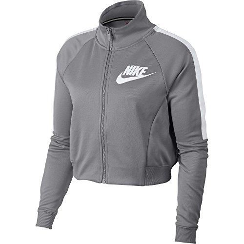Ladies N98 Track Jacket - Nike Sportswear N98 Women's Jacket Atmosphere Grey/White 912879-027 (Size XL)