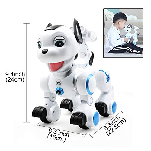 fisca Remote Control Robotic Dog RC Interactive Intelligent Walking Dancing Programmable Robot Puppy Toys Electronic Pets with Light and Sound for Kids Boys Girls Age 6, 7, 8, 9, 10 and Up Year Old by fisca (Image #3)