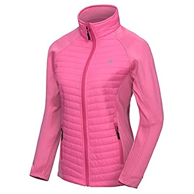 Little Donkey Andy Women's Insulated Hiking Jacket, Thermal Running Hybrid Jacket, Lightweight Breathable and Warm: Clothing