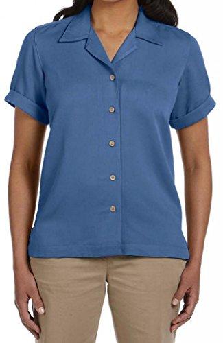 Devon & Jones D670W Ladies Isla Camp Shirt - CO - Lake Blue D670W L
