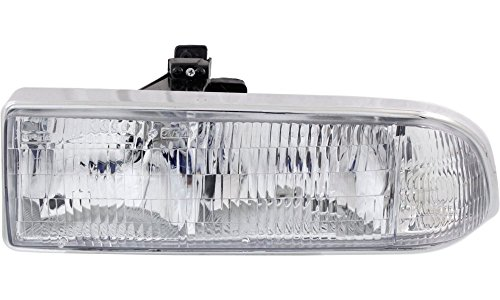 Evan-Fischer EVA13572014277 New Direct Fit Headlight Head Lamp for BLAZER 98-05 S10 PICKUP 98-04 LH Composite Assembly Halogen With Bulb(s) Driver Side Replaces Partslink# GM2502172