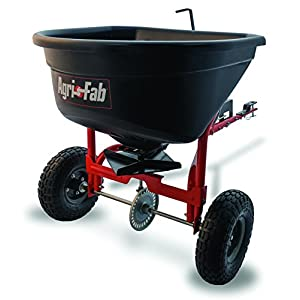 Agri-Fab Broadcast Spreader Tow Style, 110 lb Capacity, Black