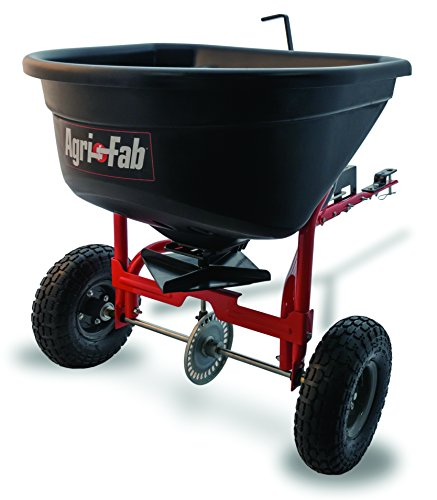 Agri-Fab Broadcast Spreader Tow Style, 110 lb Capacity, Black Agri Fab Fertilizer Spreader