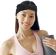Headbands with Button for Women, Hair Bands Non Slip Elastic Ear Protection Turban for Men Sweatband Head Wrap