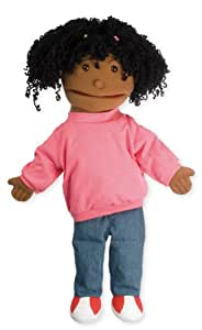 the puppet co - Medio de títeres chica Buddie (piel oscura)