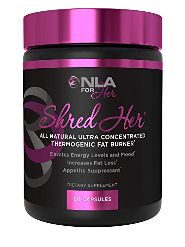 NLA for Her Shred Her - Thermogenic Fat Burner - Weight Loss Supplement, Appetite Suppressant, Energy Booster - Premium Fat Burning Ingredients and Green Tea Extract - 60 Natural Veggie Diet Pills