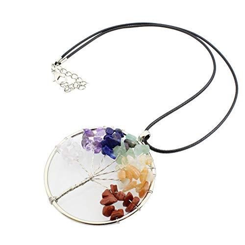 iuchoice   Vintage Women Girl Ctystal Quartz Pendant Necklace Jewelry Gift
