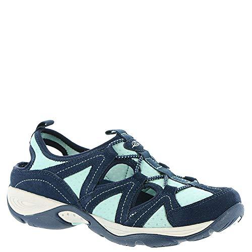 (Easy Spirit Womens Earthen Leather Closed Toe Walking, Blue-Mint, Size 7.5)